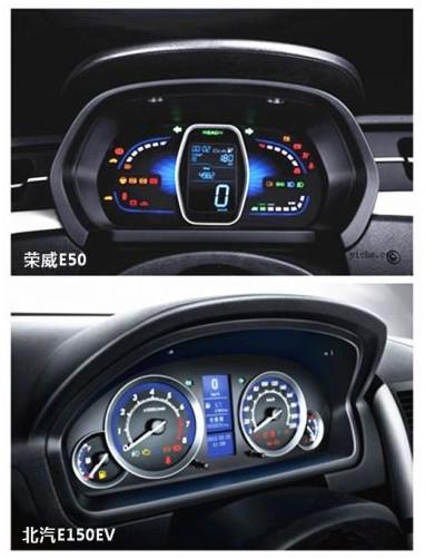 两款自主品牌电动汽车 京沪主力北汽e150ev/上汽e50大