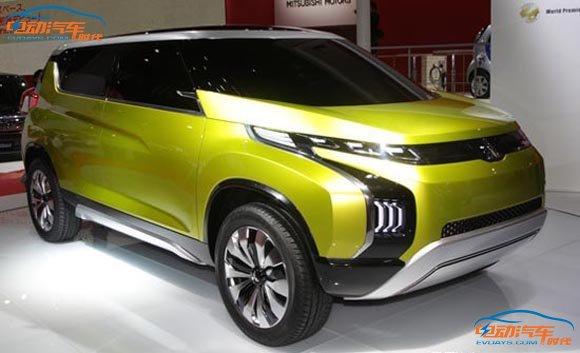 1万以下电动小汽车-三菱概念SUV亮相日内瓦 采用混合动力高清图片