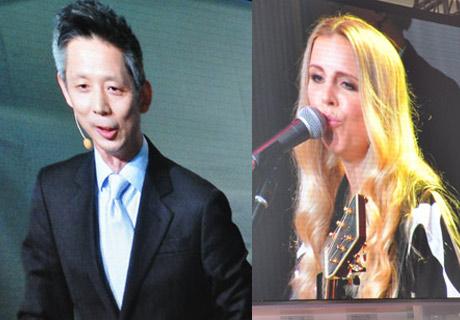 2014北京车展:丽莎·蜜丝可与蒋昌建倾情助阵沃尔沃展台