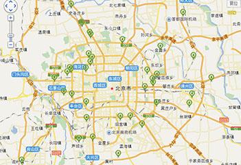 北京电动汽车充电桩分布图 40家4S店