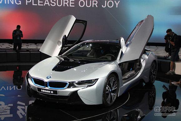目前国内最贵新能源车:宝马i8混动跑车-细数广州车展的新能源汽车阵图片