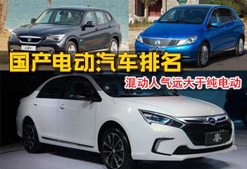 国产电动汽车排名及价格表 比亚迪稳