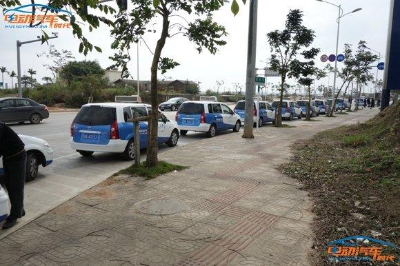 海马普力马ev出租车高清图片