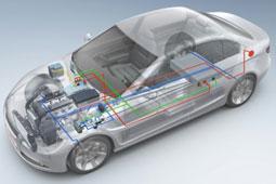 解析:插电式混动与传统混动车型根本