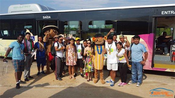 比亚迪大巴成国际赛事标配 促土著文化交流与可持续发展 _20151030609.jpg