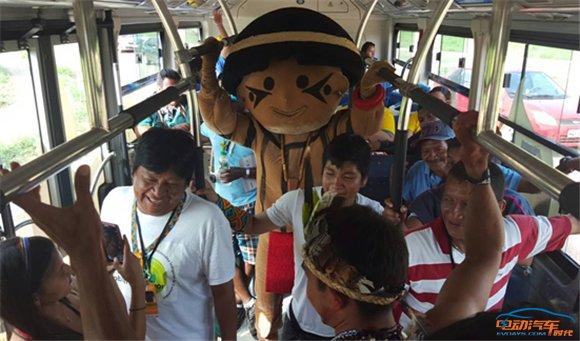 比亚迪大巴成国际赛事标配 促土著文化交流与可持续发展 _20151030798.jpg
