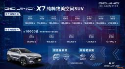 BEIJING-X7正式上市 指导价10.49万元起